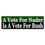 A Vote For Nader is a Vote For Bush (sticker)