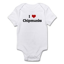 I Love Chipmunks Infant Bodysuit