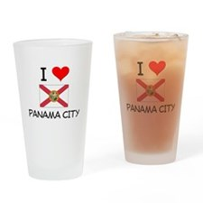 I Love PANAMA CITY Florida Drinking Glass