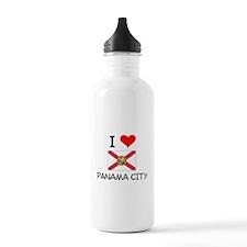 I Love PANAMA CITY Florida Water Bottle