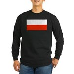 Poland Polish Blank Flag Long Sleeve Black T-Shirt