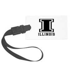 Illinois State Designs Luggage Tag