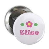 "Pink Daisy - ""Elise"" Button"