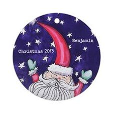 Personalized Whimsical Santa Ornament