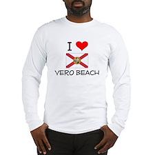 I Love VERO BEACH Florida Long Sleeve T-Shirt