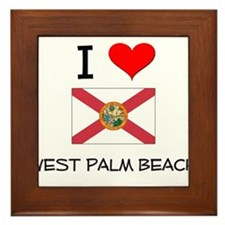 I Love WEST PALM BEACH Florida Framed Tile