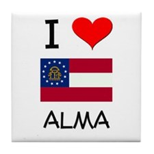 I Love ALMA Georgia Tile Coaster