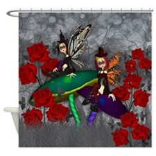 Gothic Rock Fantasy Fairies Art Shower Curtain