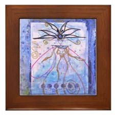Framed Bright Pearls Art Tile