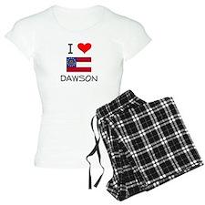 I Love DAWSON Georgia Pajamas