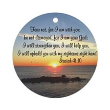 ISAIAH 41:10 Ornament (Round)