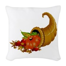 Horn of Pleanty Woven Throw Pillow