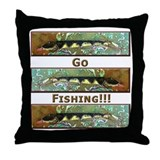 Musky Lure<br>Throw Pillow