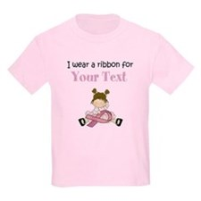Personalized Breast Cancer Ribbon T-Shirt