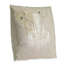elegant chandelier floral pari Burlap Throw Pillow