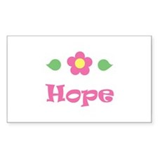 "Pink Daisy - ""Hope"" Rectangle Decal"