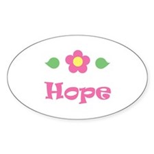 "Pink Daisy - ""Hope"" Oval Decal"