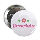 "Pink Daisy - ""Graciela"" Button"