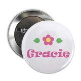 "Pink Daisy - ""Gracie"" Button"