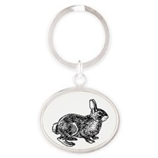 Cottontail Rabbitt (line art) Keychains