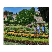 Lewes Castle Garden ST Throw Blanket