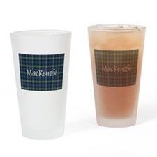Tartan - MacKenzie dress Drinking Glass