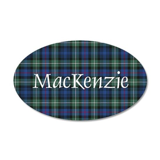 Tartan - MacKenzie dress 20x12 Oval Wall Decal