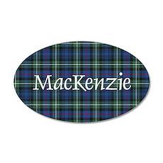 Tartan - MacKenzie dress 35x21 Oval Wall Decal