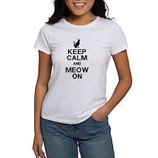 Keep Calm Meow On T-Shirt