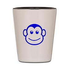 Blue Monkey Face Shot Glass