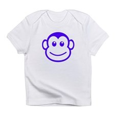 Purple Monkey Face Infant T-Shirt