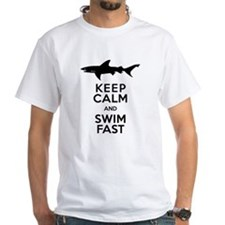 Sharks! Keep Calm and Swim Fast T-Shirt
