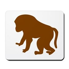 Brown Baby Baboon Mousepad