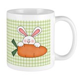 Bunny With Carrot Easter Small Mug