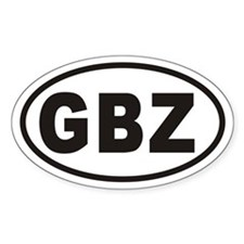 GBZ Gibraltar Euro Oval Decal Decal