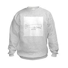 Sperm Whale (line art) Sweatshirt