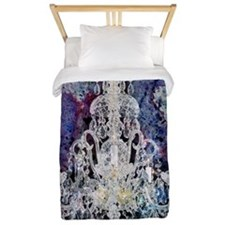 abstract watercolor chandelier  Twin Duvet