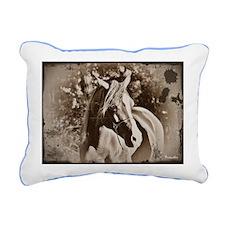 Antique Horse Rectangular Canvas Pillow