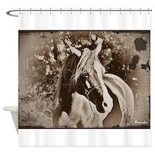 Antique Horse Shower Curtain