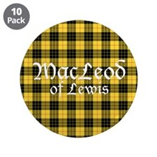 "Tartan - MacLeod of Lewis 3.5"" Button (10 pack)"