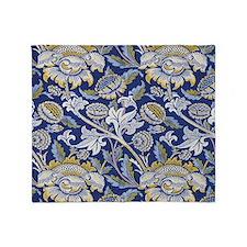 William Morris Floral Design Throw Blanket