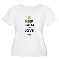 NAMASTE LOVE Plus Size T-Shirt