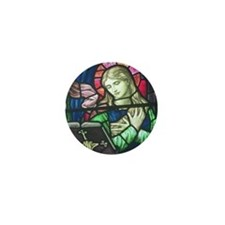 Stained Glass Mary Mini Button
