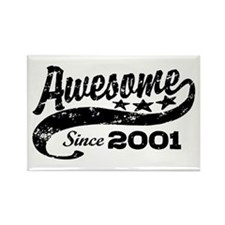 Awesome Since 2001 Rectangle Magnet
