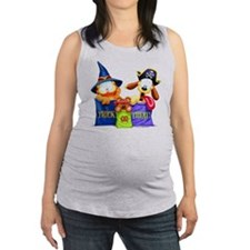 Garfield Trick or Treat Maternity Tank Top