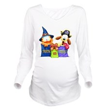 Garfield Trick or Treat Long Sleeve Maternity T-Sh