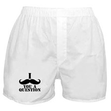 I Mustache You A Question | Black Mustache Boxer S