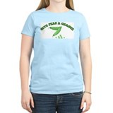 Give Peas A Chance Women's Pink T-Shirt