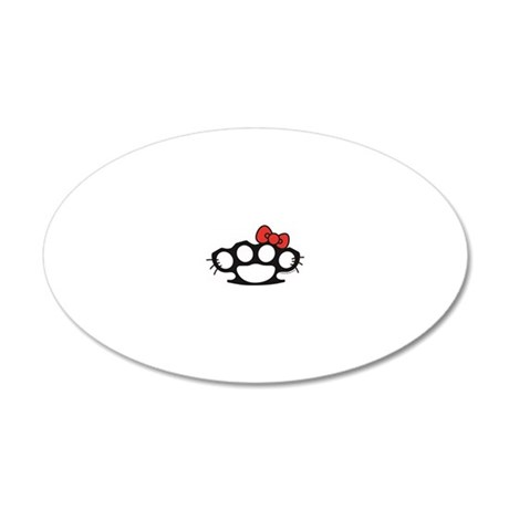Hello Kitty Brass Knuckle 20x12 Oval Wall Decal