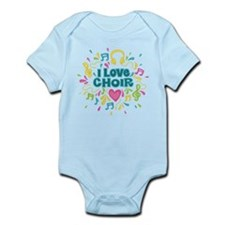 I Love Choir Music Infant Bodysuit